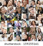montage of an interracial... | Shutterstock . vector #159255161