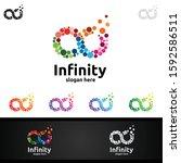 infinity loop logo icon. vector ...   Shutterstock .eps vector #1592586511