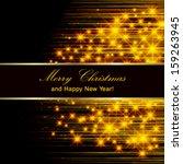 vector flickering lights  ... | Shutterstock .eps vector #159263945