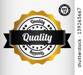 quality gold medal and label  ... | Shutterstock .eps vector #159265667