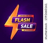 flash sale label banner for... | Shutterstock .eps vector #1592660161