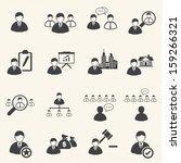 business icons set  leadership | Shutterstock .eps vector #159266321