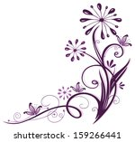 Purple Flowers With Abstract...
