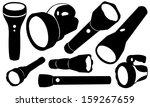 flashlights set isolated | Shutterstock .eps vector #159267659
