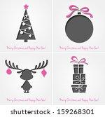 vector merry christmas paper... | Shutterstock .eps vector #159268301