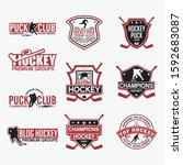 hockey club badges   logos | Shutterstock .eps vector #1592683087