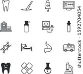 clinic vector icon set such as  ... | Shutterstock .eps vector #1592704054