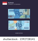 currency of indonesia. flat... | Shutterstock .eps vector #1592728141