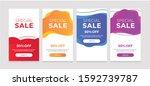 modern dynamic fluid mobile for ... | Shutterstock .eps vector #1592739787
