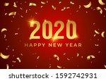 2020 happy new year logo text... | Shutterstock .eps vector #1592742931