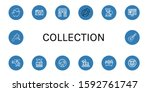 collection icon set. collection ... | Shutterstock .eps vector #1592761747
