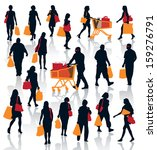 set of people silhouettes.... | Shutterstock .eps vector #159276791