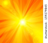 sun   sky orange yellow... | Shutterstock . vector #159279845