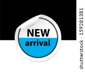 new arrival blue sticker  label ... | Shutterstock .eps vector #159281381
