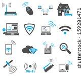 communication web icons | Shutterstock .eps vector #159281471
