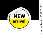 new arrival yellow sticker ... | Shutterstock .eps vector #159281525