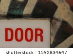 Details Of A Warning Sign On A...