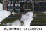 Aerial Satellite View Of Coal...