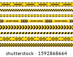 caution tape set  abstract... | Shutterstock .eps vector #1592868664