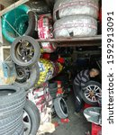 Small photo of tyre fitter, tyre fitting equipment, tyres, tyre storage, bahrain, December 2019