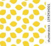 lemon seamless pattern. vector... | Shutterstock .eps vector #1592934001