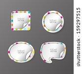 trendy vector labels set  | Shutterstock .eps vector #159297515