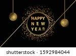 happy new year glitter...   Shutterstock .eps vector #1592984044