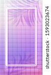 white neon vertical frame... | Shutterstock .eps vector #1593023674