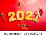 happy new year 2021. golden... | Shutterstock . vector #1593024241