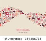 merry christmas holiday... | Shutterstock . vector #159306785
