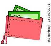 vector illustration of a wallet ...   Shutterstock .eps vector #1593073771