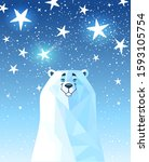 cool and funny cartoon white... | Shutterstock .eps vector #1593105754