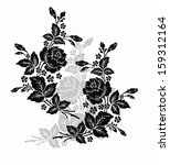 rose motif flower design... | Shutterstock .eps vector #159312164