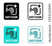 easy clean item property ... | Shutterstock .eps vector #1593124594