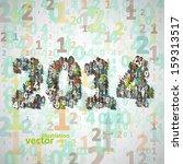 new year celebration vector... | Shutterstock .eps vector #159313517