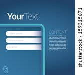 blue corner exclusive... | Shutterstock .eps vector #159315671