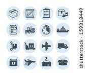 delivery icons for site | Shutterstock .eps vector #159318449