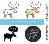 Balaam Donkey Bible Story Icon. ...