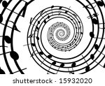abstract musical lines with...