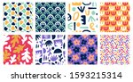 seamless abstract color shapes... | Shutterstock .eps vector #1593215314