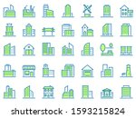 color line building icons....   Shutterstock .eps vector #1593215824