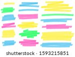 color highlight marker lines.... | Shutterstock .eps vector #1593215851