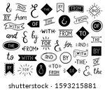 vintage lettering ampersand and ... | Shutterstock .eps vector #1593215881