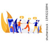 concept of referral marketing ... | Shutterstock .eps vector #1593223894