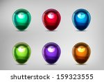 set of colorful map markers.... | Shutterstock .eps vector #159323555