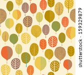 Seamless Pattern With Leaf ...