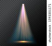 glowing light blue spotlight.... | Shutterstock .eps vector #1593301171