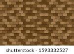 brown roof tiles seamless...   Shutterstock .eps vector #1593332527