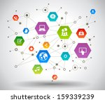 network background with nodes... | Shutterstock .eps vector #159339239