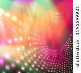 colorful and bright blue disco... | Shutterstock .eps vector #1593399931